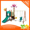 Mini Flower Decoration Outdoor Playground Equipment Slide and Swing for Kids