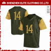 Customised Sublimation Olive Green Football Uniforms Jersey (ELTFJI-73)
