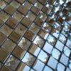 Metal and Glass Mix Random Wallpaper Kitchen Backsplash Tile Clear Crystal Glass Mosaics Bathroom Wall Sticker Shower Hotels