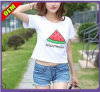 Custom Cotton Printed T-Shirt for Women (W228)