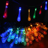 New Arrival Water Drop Multicolor Waterproof Outdoor Solar LED Holiday Christmas Decoration Fairy String Light