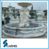 Outdoor Carve White Garden Water Fountain