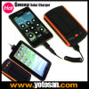 Portable Solar Charger+6000mAh Mobile Power Bank+Dual USB Output