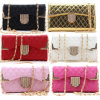 Stylish Lattice PU Leather Wallet Style Universal Phone Case with Chain for iPhone/Samsung/Huawei/HTC