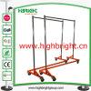 Zinc Plated Heavu Duty Metal Garment Rail Rack for Shipping Container