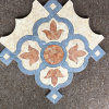 Colorful Leaf Shaped Waterjet Tile for Feature Wall