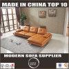Italian Design Functional Leather Adjustable Backrest Corner Sofa