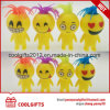 Funny Flashing TPR Rubber Emoji Bouncing Ball with Hair
