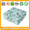 Large Square Christmas Storage Tin Box for Metal Gift Packaging