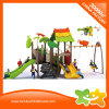 Animals Decoration Outdoor Play Equipment Slide with Swings