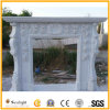 White Marble/Stone Fireplace Mantel, Carved Fireplace for Home Decoration