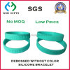 Promotional Top Quality fashion Debossed Silicone Wristband