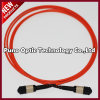 Red MPO Fiber Optic CableOM3, Male Pinned 40G MPO Cable Type - B Polarity