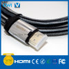 HDMI 19 Pin Plug-Plug Cable for 4K & HDTV with White and Black Cotton Braiding