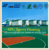 Shock Absorption Silicon PU Sports Flooring Approved by Iaaf