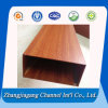 Wood Grain Color Anodized Rectanglar Aluminum Tube for Decoration