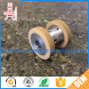 High Duty Black Rubber Castor Wheel / Belt Conveyor Rear Rubber Covered Idler Pulley with Bearing