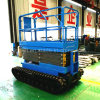 High Efficient Hydraulic Mobile Flexible Scissor Lift on Tracks
