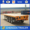 3 Axle 40ft Chassis Flatbed Container for Sale