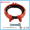 Ductile Iron Grooved Angle Pad Rigid Coupling FM/UL Approved
