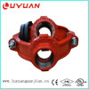 Grooved Pipe Fitting and BSPT/NPT Thread Mechanical Cross for Fire Sprinkler System