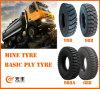 Nylon Bias Truck Tire (1300-25) with Rib and Lug Pattern