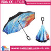 Magic Windproof C Handle Double Layer Inverted Umbrella