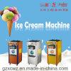 Stainless Steel Three Flavor Soft Ice Cream Maker Machine