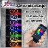 7 Inch 50W RGB Headlight for Jeep Wrangler