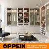 Modern Beige Matte Lacquer White Walk-in Wardrobe (YG91555)