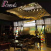 Modern Decorative Glass Stainless Steel Fish Shape Pendant Lamp