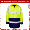 En471 Yellow Navy Blue Waterproof Fire Resistant Safety Workwear (ELTHJC-467)
