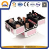 Trendy Aluminium Case Pink Train Case with Handle (HB-3206)