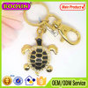 Novelty Australian Gold Plated Turtle Keychain with Black Color #16357
