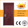 Economical Interior Wooden Rounded MDF PVC Door (SC-P142)