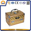 Golden ABS Diamond Cosmetic Makeup Box (HB-2038)