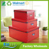 Red Clear Empty Shoe Boxes Clothes Organizer Box with Lid