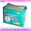 Disposable Soft Breathable Sunny Baby Diaper with PP Tape