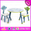 Eco-Friendly Student Wooden Writing Table Chair for Kids, High Quality Kids Writing Table and Chair Set W08g153