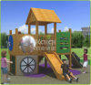 Kaiqi Kids Wooden Hut Outdoor Playground with Slide (KQ60079A)