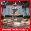 Sunset Red Marble Stone Carving Water Fountain (019)