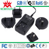 12W Series Interchangeable Power Adapters with Double-Side Board and En-60950 and En-60065 Marks