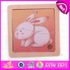 2015 High Quality 2D Wooden Animal Puzzle, Cheap Price Wooden 2D Puzzle Toy, Lovely Rabbit Deisgn Kid 2D Wooden Puzzle Toy W14c163