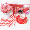 Red Color Paper Party Favors with Different Designs
