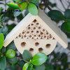 100% Natural Handmade Wooden Bee House for Garden