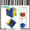 Plastic Foldable Shopping Cart with Lids