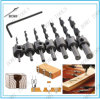 7PCS HSS 5 Flute Countersink Drill Bit Set