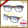 F6416 Classic Designed Bamboo Temples Sunglasses Merchandising From Zhejiang