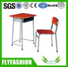 Wooden Standard Size Single School Desk with Bench