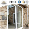 China Manufacture Customized Factory Cheap Price Fiberglass Plastic UPVC Glass Door with Grill Insides
